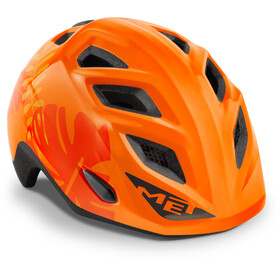MET Elfo Casque Enfant, orange jungle glossy